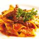 Straccetti di pasta fresca con ragù di carne di bufala agli aromi